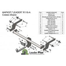 ТСУ Leader Plus для Renault Kaptur (2016 - н.в.) R116-A
