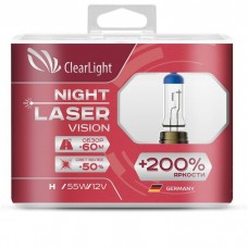 Clearlight Лампа H1 12V-55W Night Laser Vision +200% Light (2шт)
