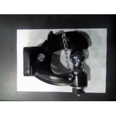 Универсальный фаркоп (ТСУ) крюк черный + шар хром
