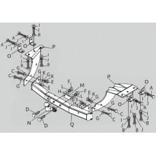 ТСУ PT Group для Citroen C-Crosser (2008-2012) с нержавеющей накладкой, MOX991101