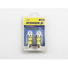 Светодиод J-POWER SJ2SMD 0.5W/SMD 36MM подсветка белая (2шт)